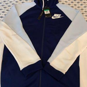 Womens Nike color-block zip hoodie